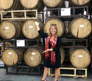 """Pixie"" Paula with barrels and barrels of award-winning spirits"